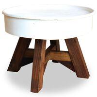 vidaXL Coffee Table Solid Reclaimed Wood 60x45 cm White