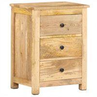 vidaXL Bedside Cabinet 45x35x60 cm Solid Mango Wood
