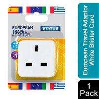 Status European Travel Adaptor White