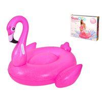 XL Inflatable Flamingo Airbed - Inflatable Flamingo - 110x86x 102cm -