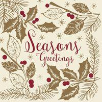 Swantex Seasons Greetings Christmas Napkins 3 Ply 40cm - 1x100