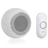 Byron Wireless Portable Doorbell Set White
