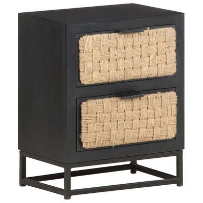 vidaXL Bedside Cabinet 40x30x50 cm Solid Mango Wood
