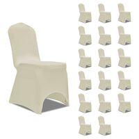 vidaXL Chair Cover Stretch Cream 18 pcs