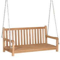 vidaXL Swing Bench Solid Teak 120x60x57.5 cm Brown