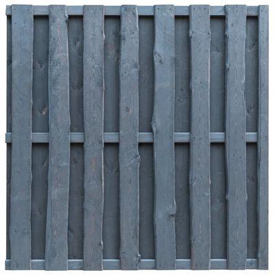 vidaXL Hit and Miss Fence Panel Pinewood 180x180 cm Grey