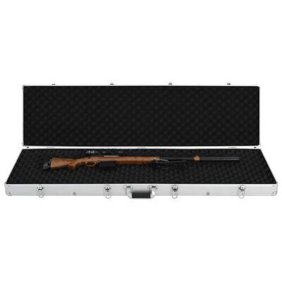 vidaXL Gun Case Silver 134x35x12 cm Aluminium