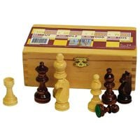 Abbey Game Chess Pieces 87 mm Black/White 49CL