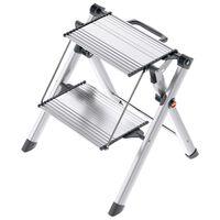Hailo Stepladder with 2 Steps Mini Comfort 45 cm Aluminium 4310-100