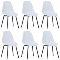 vidaXL Dining Chairs 6 pcs White PP