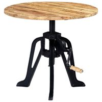 vidaXL Side Table 60x(46-63) cm Solid Mango Wood and Cast Iron
