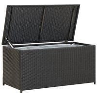 vidaXL Garden Storage Box Poly Rattan 100x50x50 cm Black