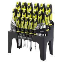 Draper Tools 44 Piece Screwdriver, Hex Key, and Bit Set Green 78619