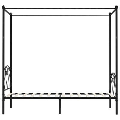vidaXL Canopy Bed Frame Black Metal 90x200 cm