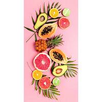 Good Morning Beach Towel PINK FRUITS 75x150cm Pink