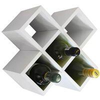 CROSS - 6 Bottle Wall / Free Standing Wine Storage Rack - White
