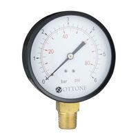 2.5 Bar Pressure Gauge Air Water 100mm 1/2 Inch Side Entry Manometer