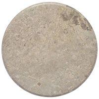 vidaXL Table Top Grey Ø60x2.5 cm Marble