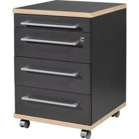 Germania Rolling Filing Cabinet Duo 42x45x60 cm Anthracite