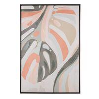 Framed Canvas Wall Art 63 x 93 cm Multicolour BANZENA