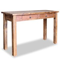 vidaXL Console Table Solid Reclaimed Wood 123x42x75 cm