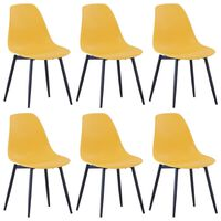 vidaXL Dining Chairs 6 pcs Yellow PP