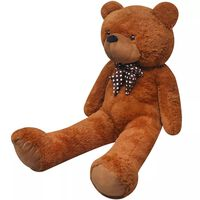 vidaXL XXL Soft Plush Teddy Bear Toy Brown 135 cm