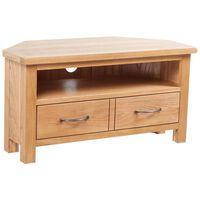 vidaXL TV Cabinet with Drawer 88 x 42 x 46 cm Solid Oak Wood