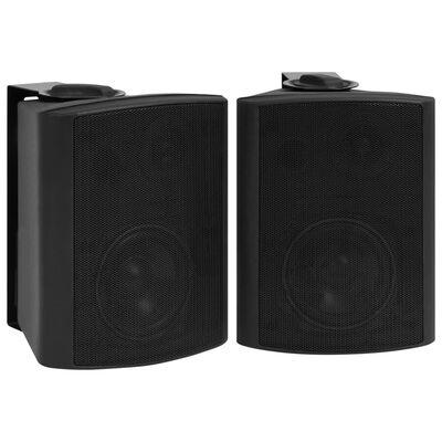 vidaXL Wall-mounted Stereo Speakers 2 pcs Black Indoor Outdoor 100 W