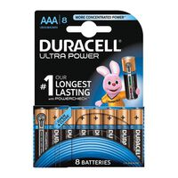1x8 Aaa Duracell Mx2400 B8 Alkaline Ultra Power Batteries Long Lasting