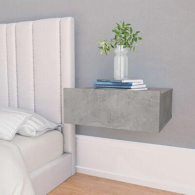 vidaXL Floating Nightstands 2 pcs Concrete Grey 40x30x15 cm Chipboard