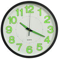 vidaXL Luminous Wall Clock Black 30 cm