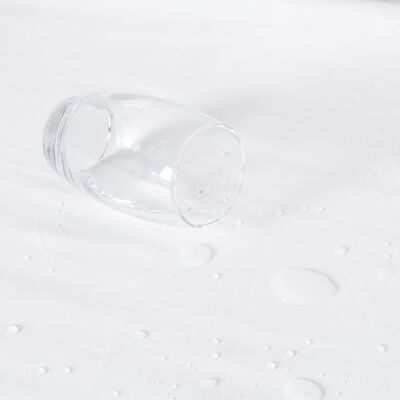 vidaXL Mattress Protectors Waterproof 2 pcs Cotton 160x200 cm White