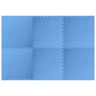 vidaXL Floor Mats 6 pcs 2.16 ㎡ EVA Foam Blue