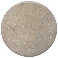 vidaXL Table Top Grey Ø70x2.5 cm Marble