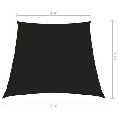 vidaXL Sunshade Sail Oxford Fabric Trapezium 4/5x3 m Black