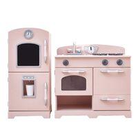 Teamson Kids Childrens Wooden Play Kitchen Pink Toy Cooker TD-11413P