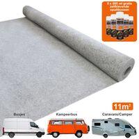11m2 Van Lining Carpet Adhesive Glue Cans Kit Camper Silver Grey