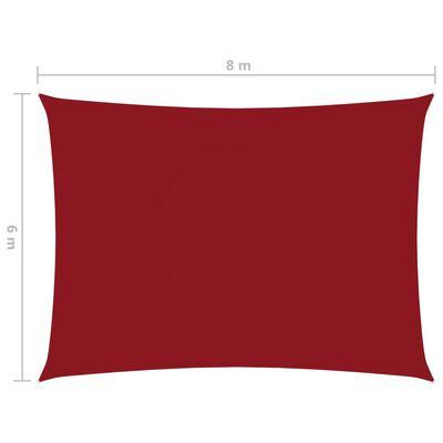 vidaXL Sunshade Sail Oxford Fabric Rectangular 6x8 m Red