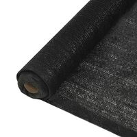 vidaXL Privacy Net HDPE 1x50 m Black