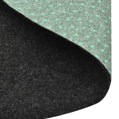 vidaXL Artificial Grass with Studs Dia.95 cm Anthracite Round