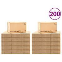 vidaXL Moving Boxes Carton XXL 200 pcs 60x33x34 cm