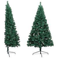 vidaXL Artificial Half Christmas Tree with Stand Green 150 cm PVC