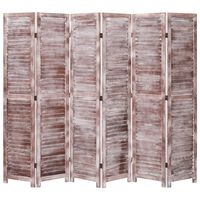 vidaXL 6-Panel Room Divider Brown 210x165 cm Wood