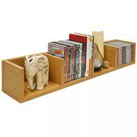 CD / DVD / VIDEO Multimedia Wall Storage Shelf - BEECH