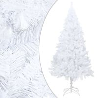 vidaXL Artificial Christmas Tree with Thick Branches White 150 cm PVC