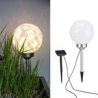 HI Solar LED Rotating Garden Ball Light 20 cm