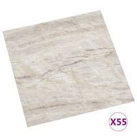 vidaXL Self-adhesive Flooring Planks 55 pcs PVC 5.11 m² Beige