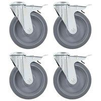 vidaXL 32 pcs Bolt Hole Swivel Casters 125 mm