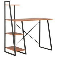 vidaXL Desk with Shelving Unit Black and Brown 102x50x117 cm
